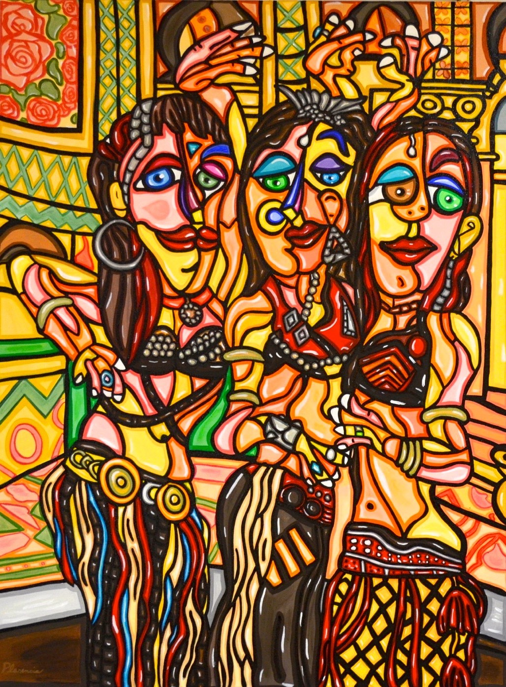 Belly Dancers 40'X 30""