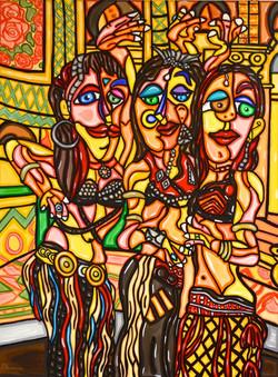 "Belly Dancers 40'X 30"""