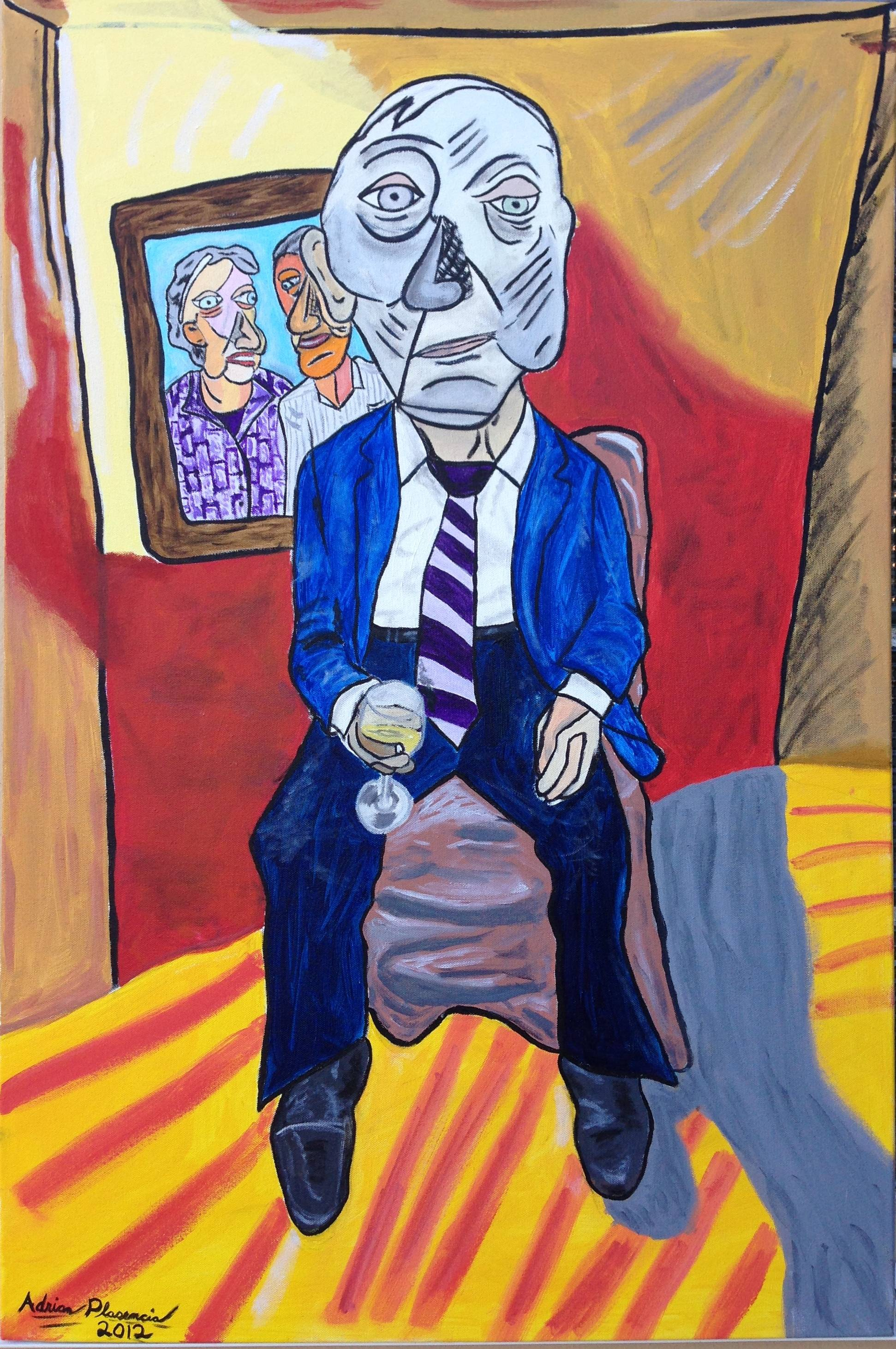 "Lonely Widower 40"" X 30"""