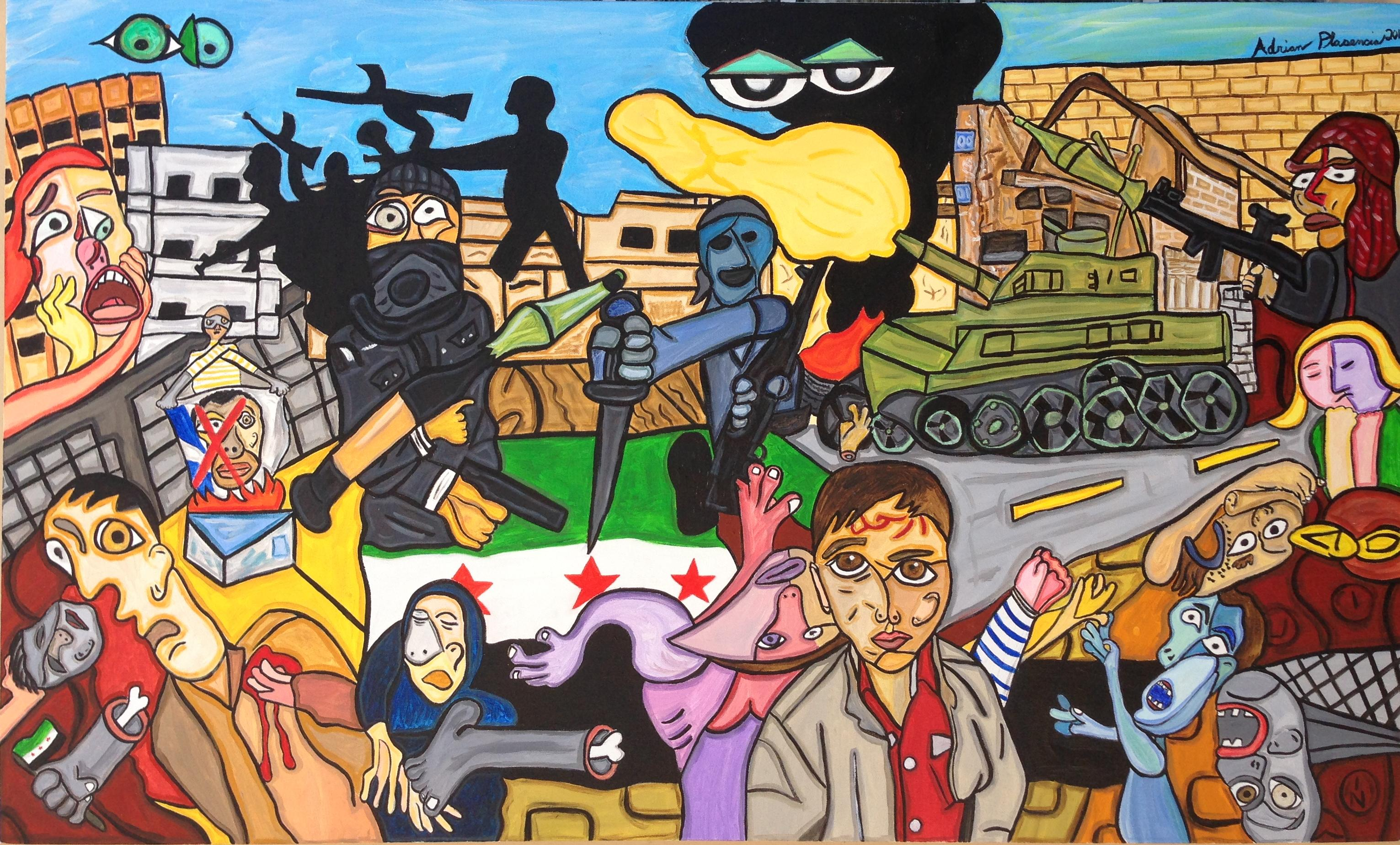 "Suffering In Syria 36"" X 60"""