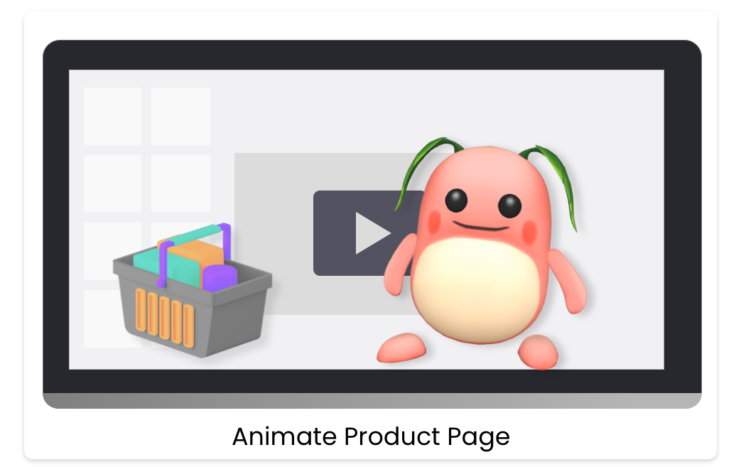 Animate Product Page
