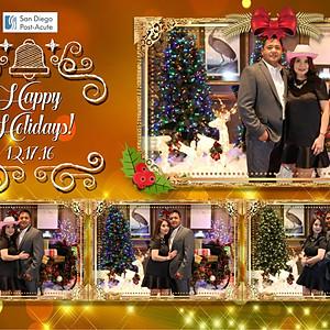 San Diego Post-Acute Company Christmas Party Photo Booth at Barona Casino