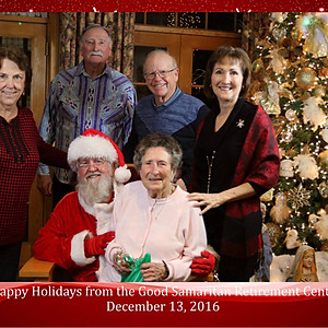 Pictures with Santa at the Good Samaritan Retirement Center