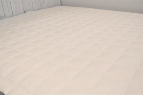 100% Cotton Quilt Mattress Pad_King_Ivory