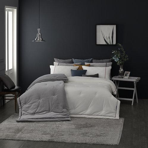 Premium Modal.Tencel Velour Comforter Set_White