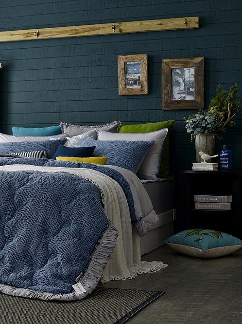 Navy Micro-modal Waffle & Cotton Comforter