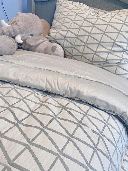Single Plain 100% Natural Cotton Comforter Set