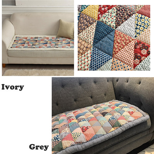 100% Cotton Quilt Sofa Pad_Grey