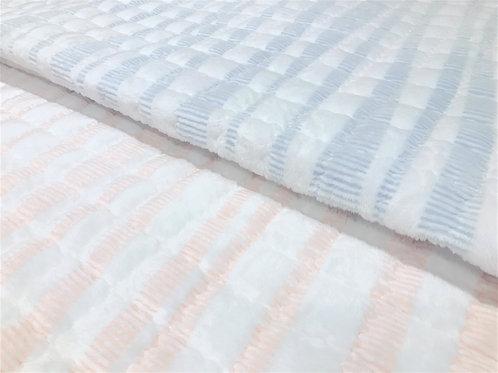 Stripe Premium Mink Touch Mattress Pad_Queen_극세사 패드