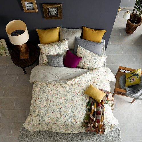 [ORGANIC Cotton] Beige Comforter 4pc Set_Queen + [FREE GIFT]