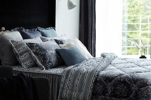 HZ Premium Mink touch Comforter Set_Single_Navy