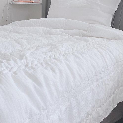 Art Silk with 100% Cotton comforter set_IVORY