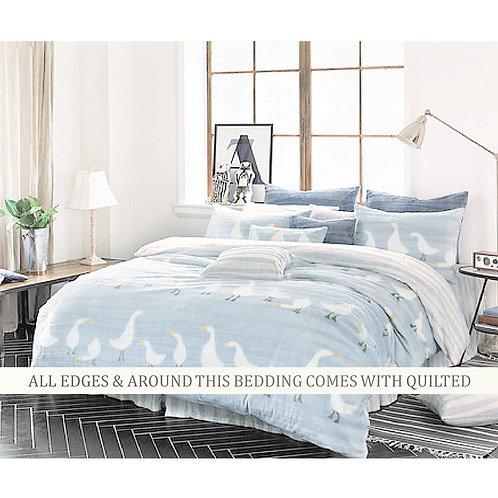 Duck Mink Touch Winter Comforter Queen Set_Blue