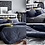 Thumbnail: Premium Real Fur Touch Micromink Comforter Set_Navy