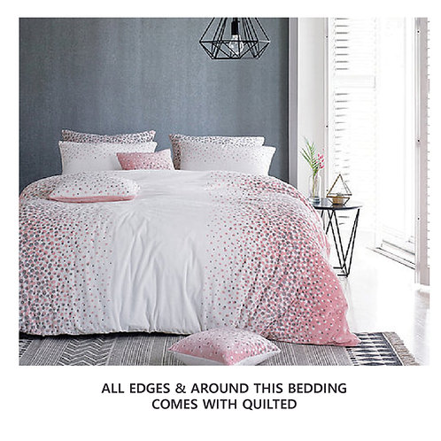 Dotty Mink Touch Microfiber Winter King Comforter set
