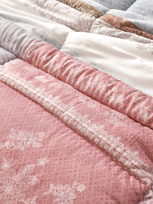 Lorencia_Pink Soft Silky Touch Micomodal Queen Comforter 3pc Set