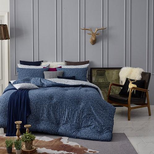 [ORGANIC Cotton] Navy Comforter Set_Double/Full
