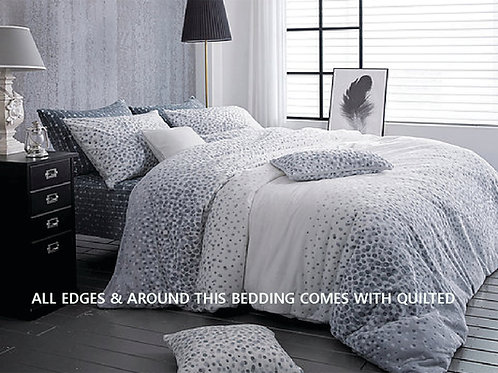 Dotty Mink Touch Microfiber Winter Queen Comforter Set