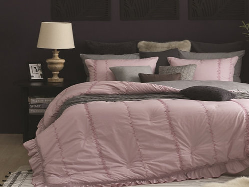 100% Soft Touch Natural Cotton Comforter Single Set_Pink