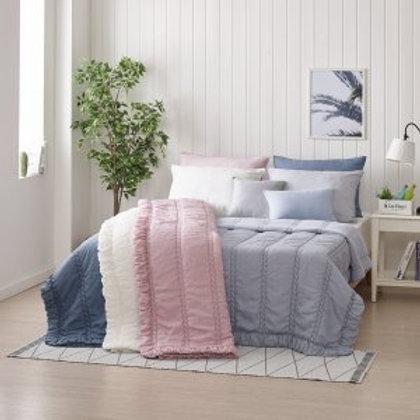 Art Silk with 100% Cotton comforter set_NAVY