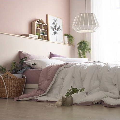 Purecotton_Pink Embroidery 100% Soft Touch Natural Cotton Comforter Set