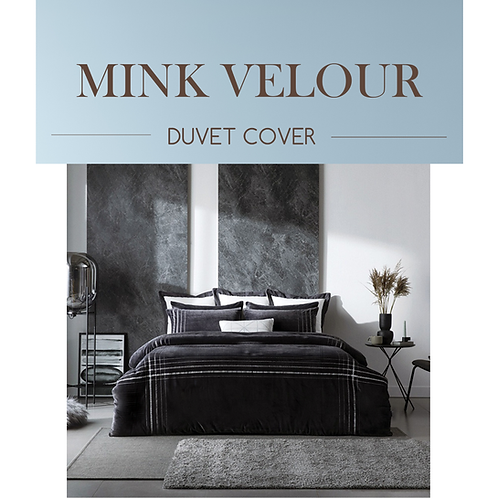 Blue Moon Mink Touch Microfiber Duvet Cover Set_Single/Queen/King