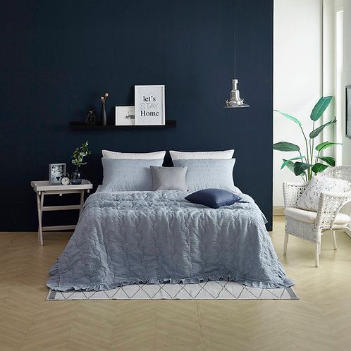 New Summer Pigment Washing Comforter Set_Blue Grey