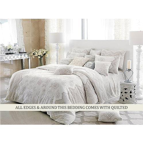 Merry Queen Mink touch Winter Comforter Queen set_Ivory