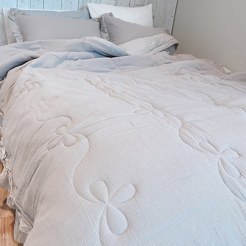 [Gauze Cotton] Grey Comforter Set_Queen