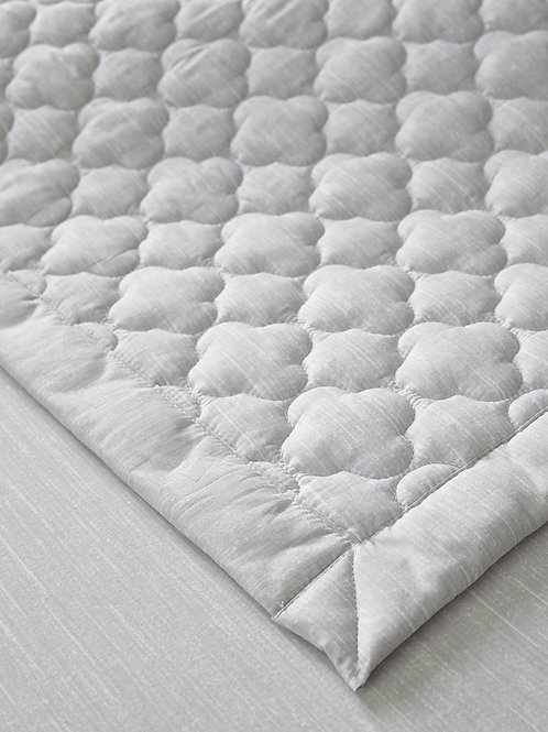 100% High Density Cotton Quilt Pad_Light Grey_Double