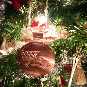 Embossed Copper Christmas Ornament Brother ScanNCut