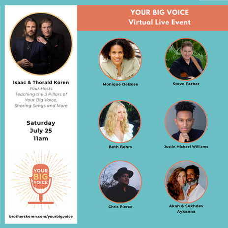 Your Big Voice Virtual Event 2020
