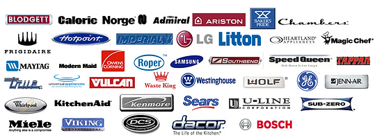 Major Appliance Brands We Work On