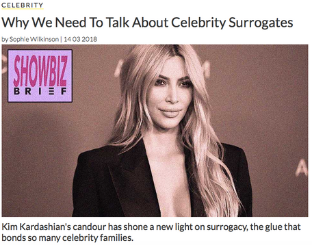 Celebrity surrogates, an op-ed for The Debrief