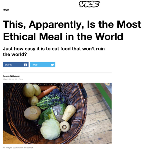 A journey to find the world's most ethical meal, for VICE