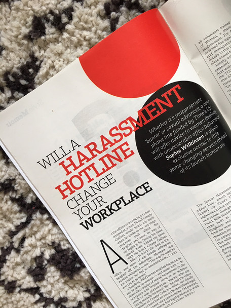 Will a harassment hotline change your workplace?, for The Sunday Times Style