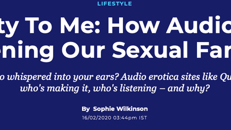A feature on audio erotica's booming popularity, for Huffington Post