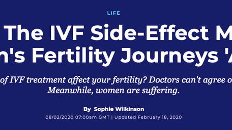 A feature on an agonising side-effect of IVF, for Huffington Post