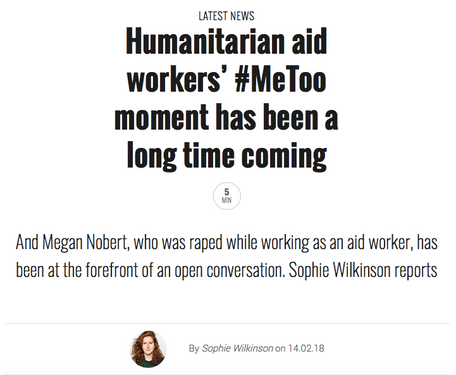 An interview with Megan Nobert, an aid worker, for The Pool