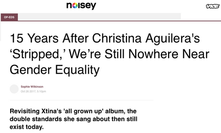 A retrospective of XTina's Stripped, for Noisey