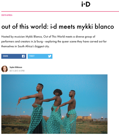 Mykki Blanco interview, for i-D