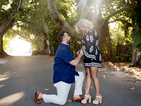 Surprise proposal on Boca Grande: Banyan St