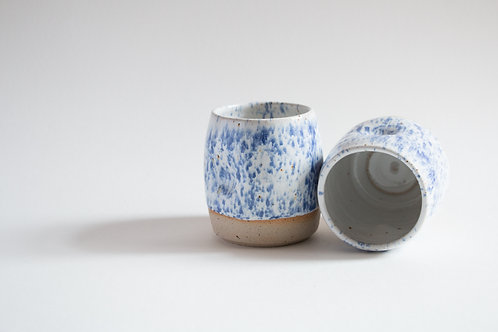 dimpled speckled tumblers