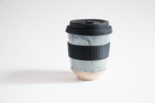 10oz grey blue flecked travel tumbler