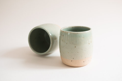 celadon green coffee tumbler