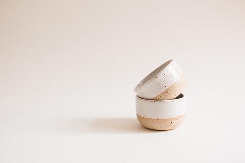 white flecked espresso cup