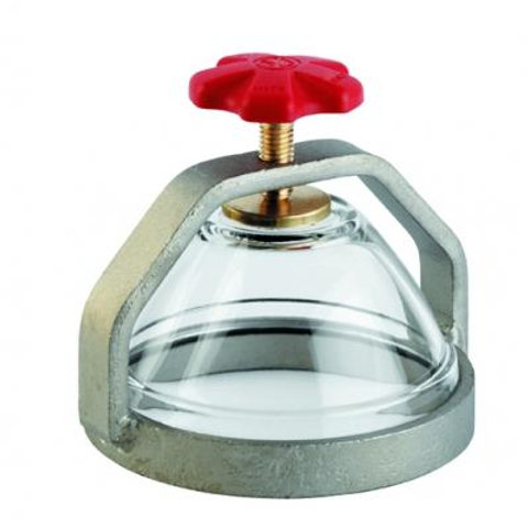 Spia in vetro con protezione diametro 100 cod. 4014