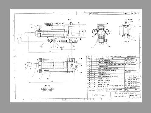 Timone snodato, timone sterzante, tipo Novak idraulico cod. 11302