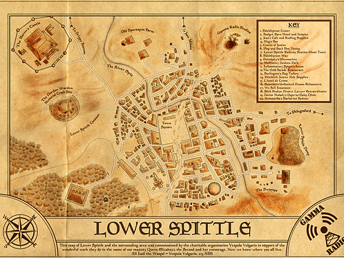 Premium Map of Lower Spittle