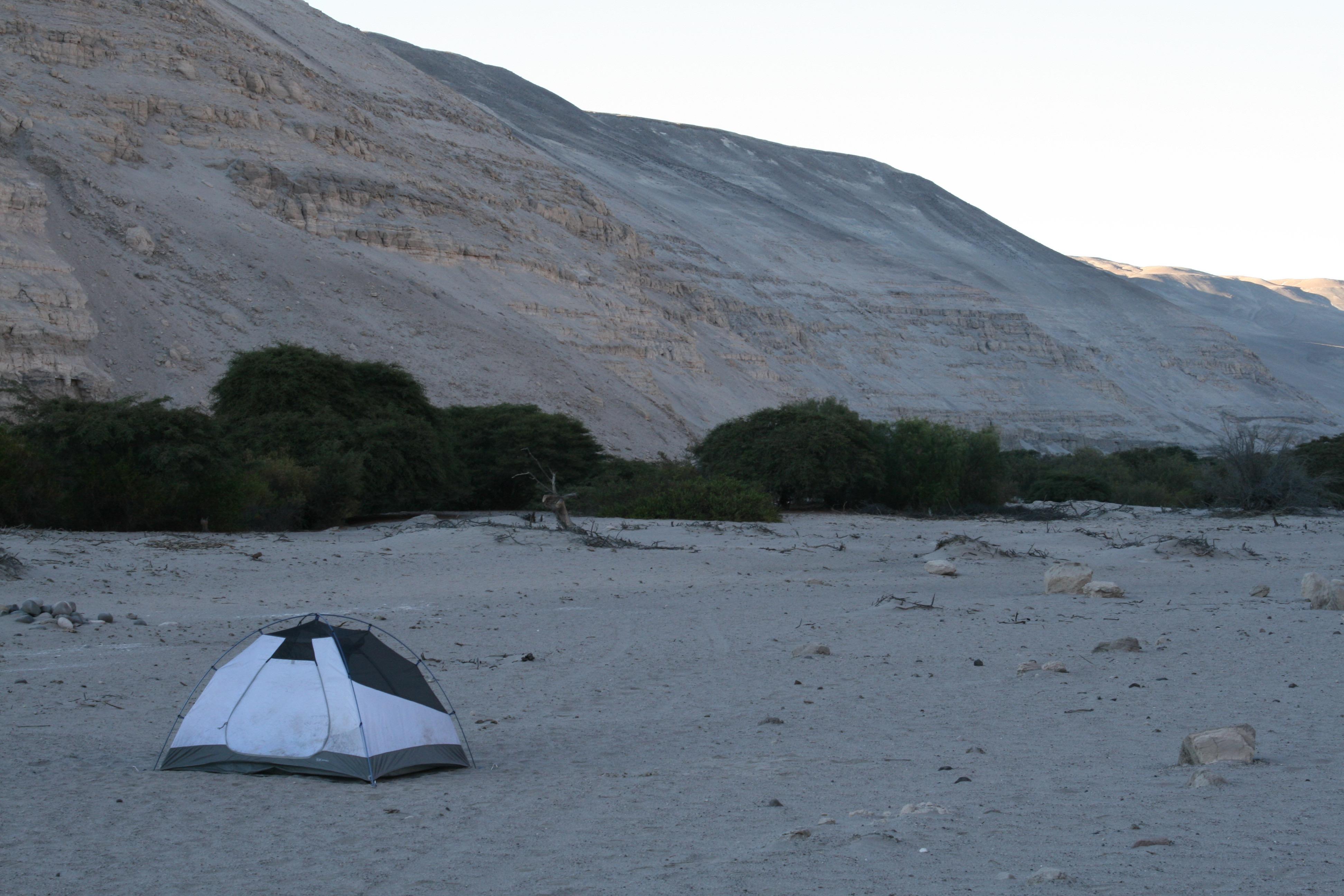 Camp in Quebrada Manga